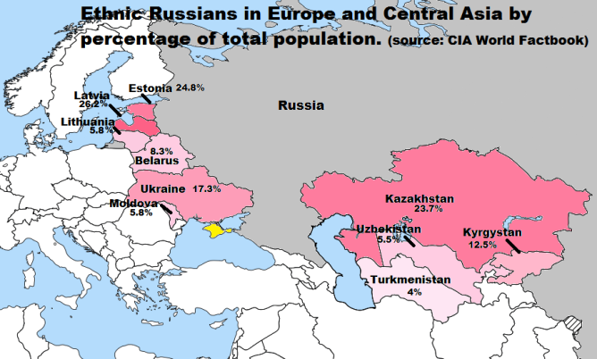 Map of Ethnic Russians complete